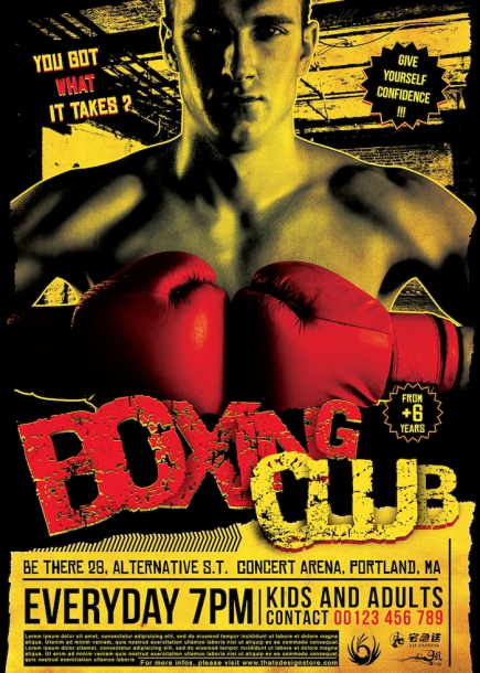 Fight Night Flyer Template V1