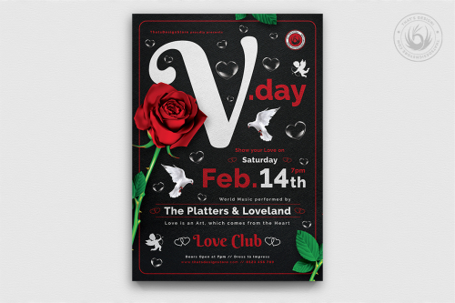 Valentines Day Flyer Template V19