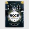 Rock Festival Flyer Template PSD Download V8, live band poster design