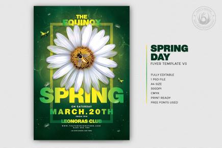 Spring Day Flyer Template PSD Download V3
