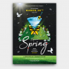 Spring break Party Flyer Psd Templates download