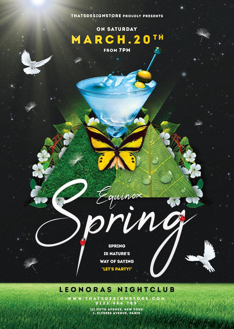 Spring Day Flyer Template PSD download V2