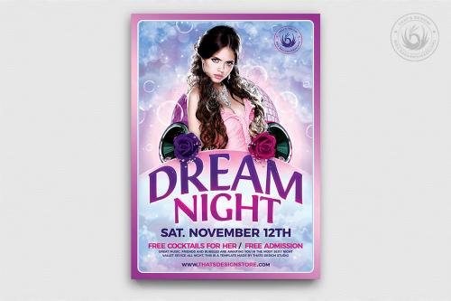 Club Flyers Template - Dream Night