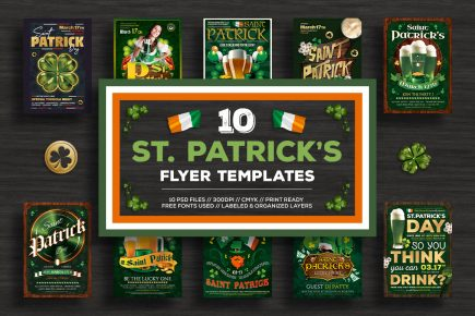 St Patricks day flyer templates, Saint patrick's Day flyer templates affordable bundle