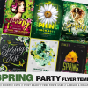 Spring Day Flyer templates Bundle Psd design