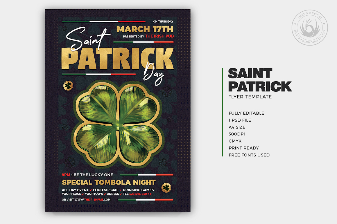 St Patricks day flyers, Saint Patricks Day Flyer Template V10