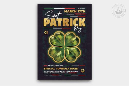 St Patrick's day PSD flyers, Saint Patricks Day Flyer Template V10