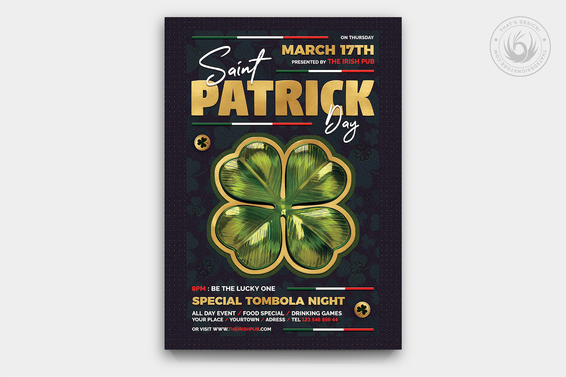 St Patrick's day flyers, Saint Patricks Day Flyer Template V10