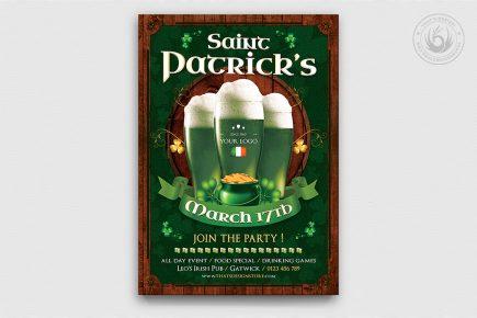 Saint Patrick's Day PSD Flyer Template V8