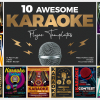 Karaoke Night Party Flyers templates for photoshop Download