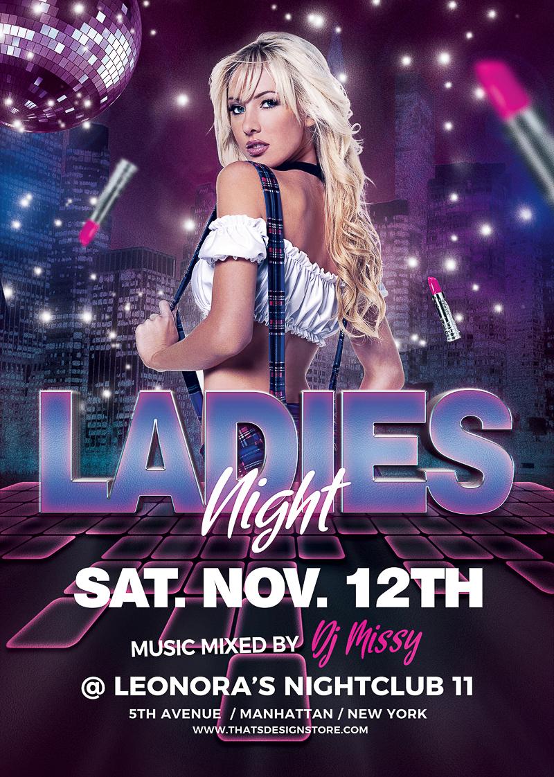 Ladies Night Flyers Template - Urban Design flyer