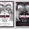 Drum Fest Flyer Template psd download to promote Lessons, concerts, festivals, Indie Rock Band, Alternative, Pop rock Gig.
