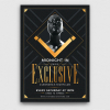 Download this flyer design for an exclusive party or VIP event. Whatever you have an elegant, glamour, luxury celebration, this golden psd flyer is perfect!