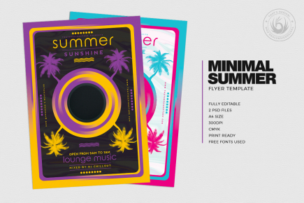minimalistic flyers, Minimal summer flyer Design for any beach club or cocktails bar event. Pool or garden party with Dj set mixing chillout, lounge music for a tropical sunset, summer camp holidays