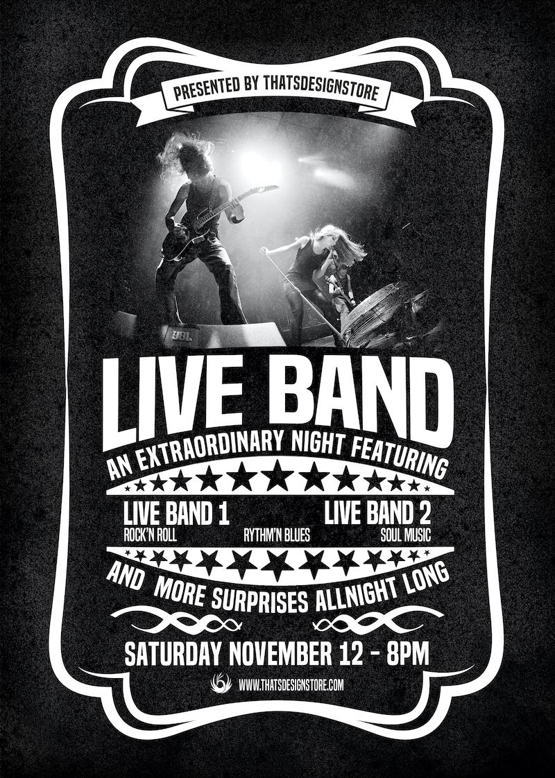 Live Concert Flyer Poster Template | Vintage PSD design ...