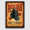 Vintage Boxing Classes Flyer Template poster psd download