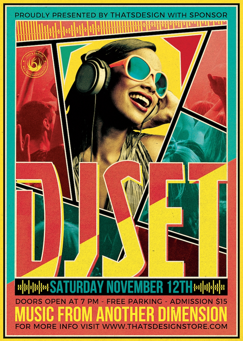Dj Guest Flyer Template PSD download to customize V6