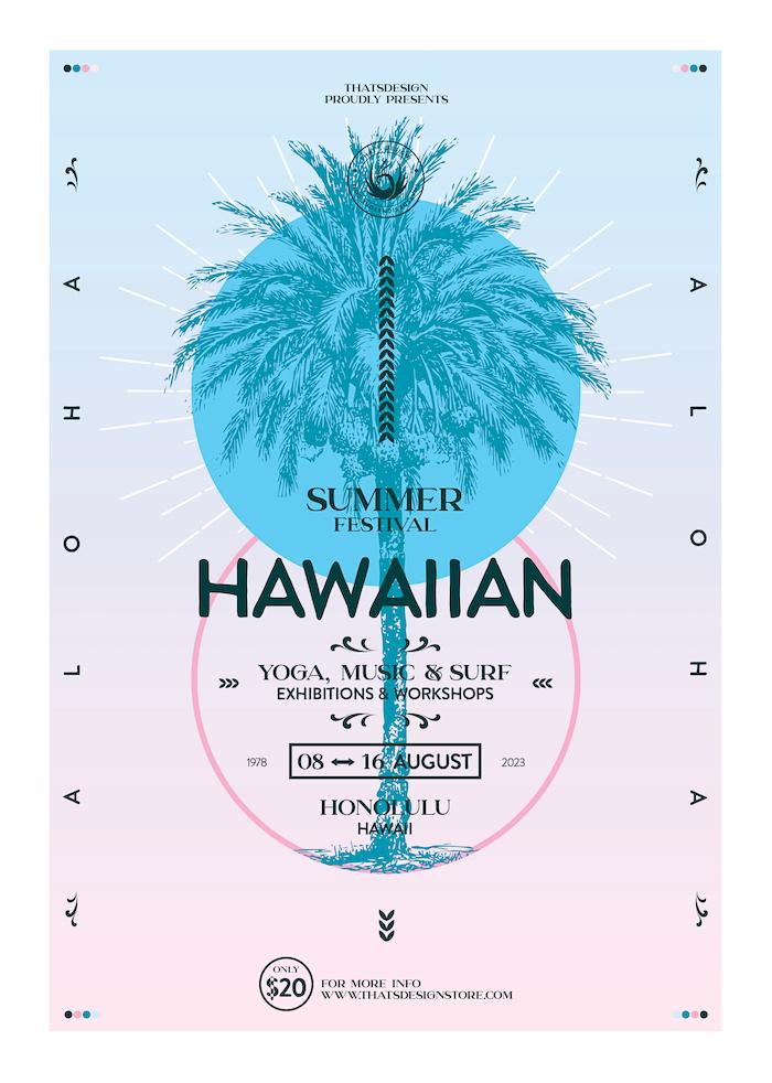 Summer Festival Flyer Template Psd V2, Dj electro club party