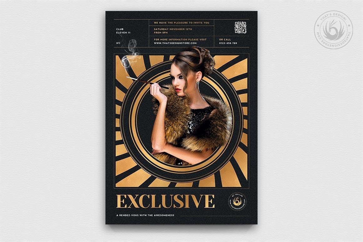 Exclusive Party Flyer Bundle | VIP posters psd Design