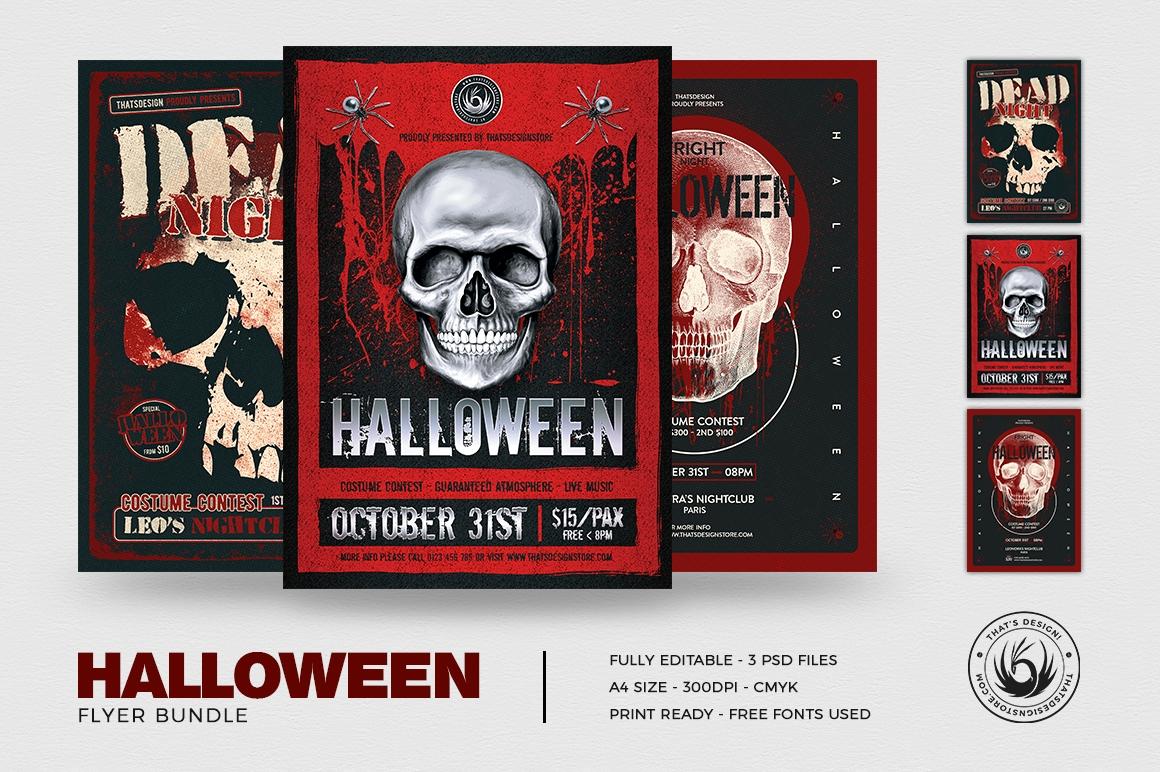 Halloween Flyer Templates PSD