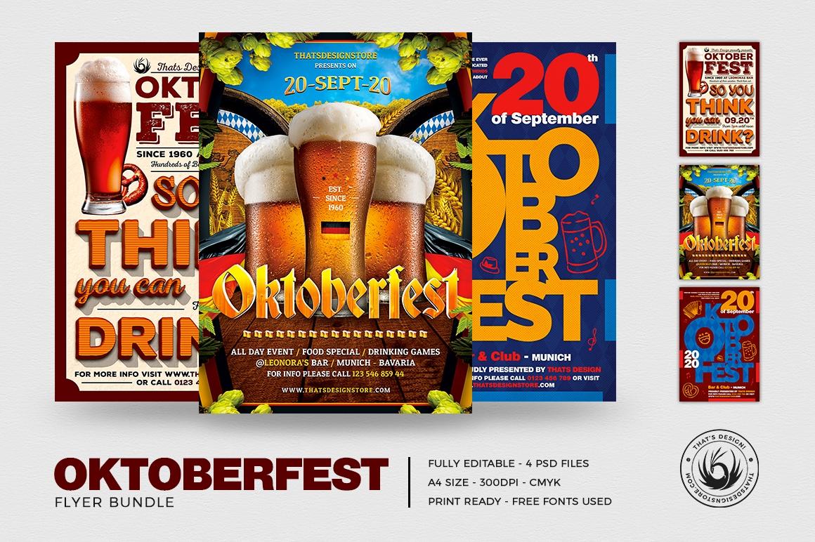 Oktoberfest Flyer Templates psd design download V3