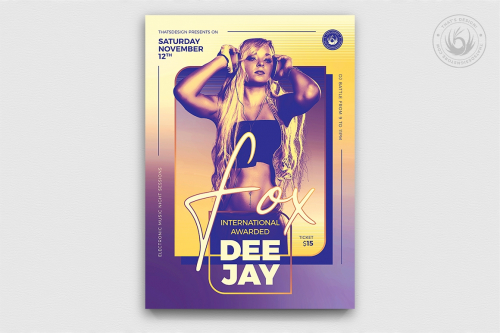 Dj Session Flyer Template Psd design download V9