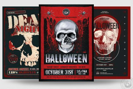 Halloween PSD flyer templates V8