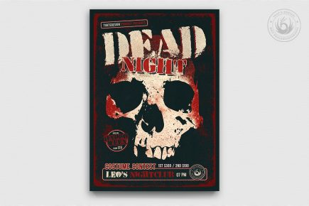 Halloween Flyer Template Psd design to customize with photoshop V24