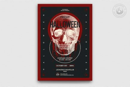 Halloween Flyer Template Psd Design V25