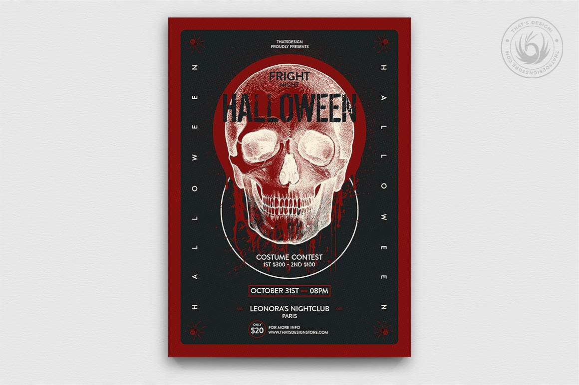 Halloween Flyer Template Psd Design V25