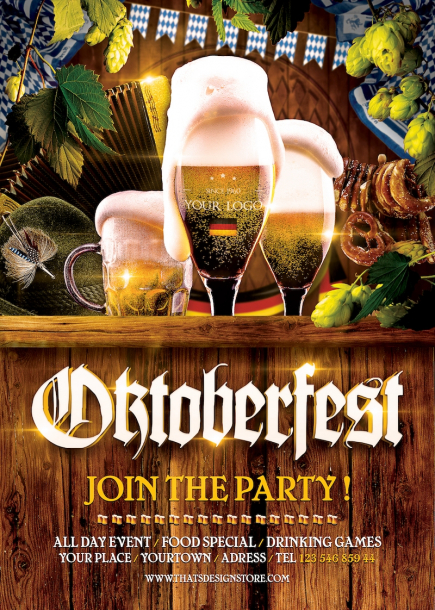 Oktoberfest Flyer Templates for Photoshop / Beer Party Flyers