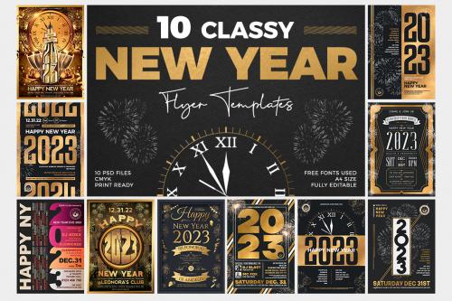 10 New Year Flyer Bundle