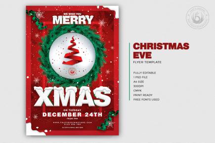 Christmas Eve Flyer Template V11