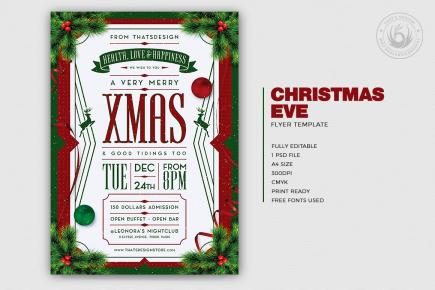 Christmas Eve Flyer Template Psd V8