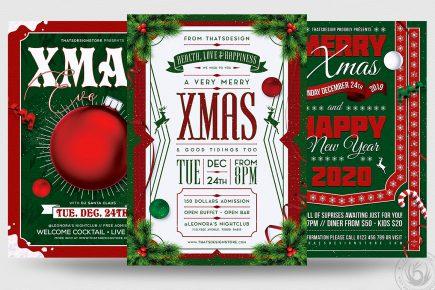 Christmas Eve Flyer Bundle