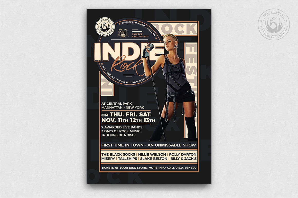 Indie Rock Flyer Template V6
