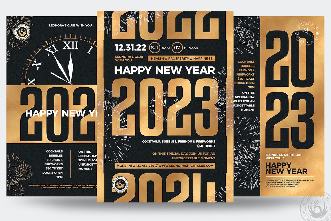 New Year PSD Flyer tempaltes Bundle V3