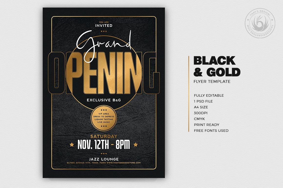Minimal Black & Gold Flyer Template V16