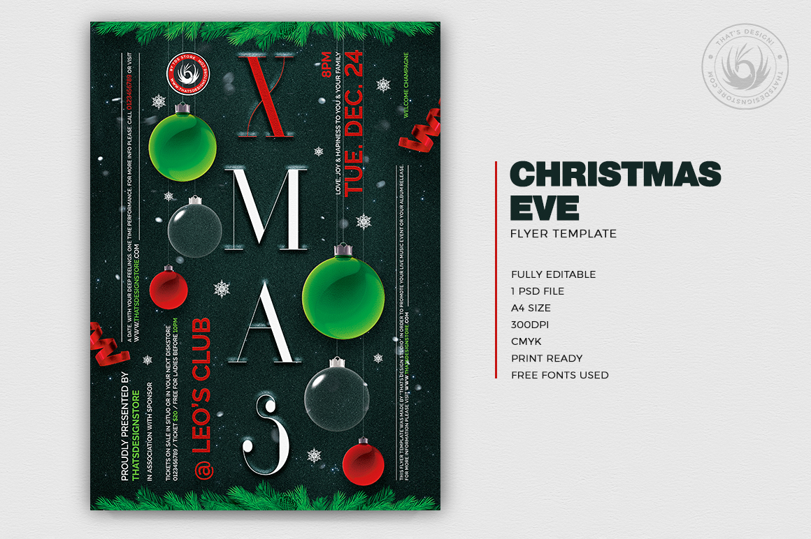 Christmas Eve Flyer Template V13