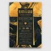 Minimal Black & Gold Flyer Template V12
