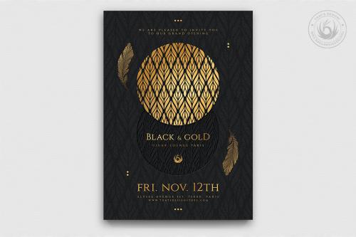 Minimal Black & Gold Flyer Template V13