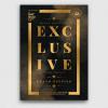 Minimal Black & Gold Flyer Template V14