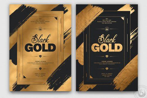 Minimal Black & Gold Flyer Template PSD V15
