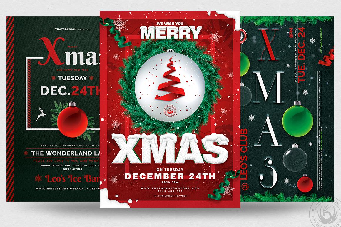 Christmas Eve Flyer Templates PSD Bundle V2