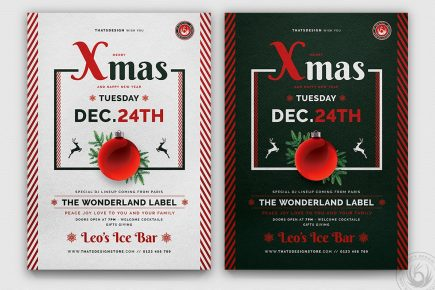 Christmas Eve Flyer Template psd download V12