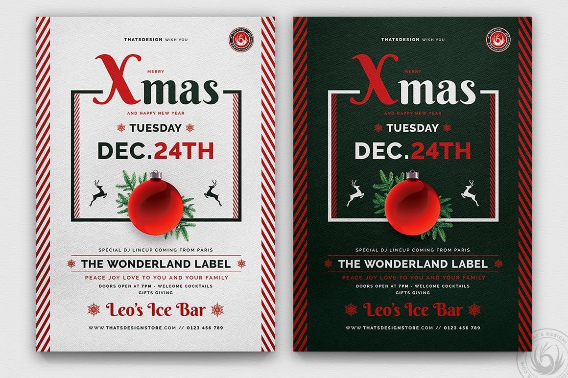 Christmas Eve Flyer Template psd download V12