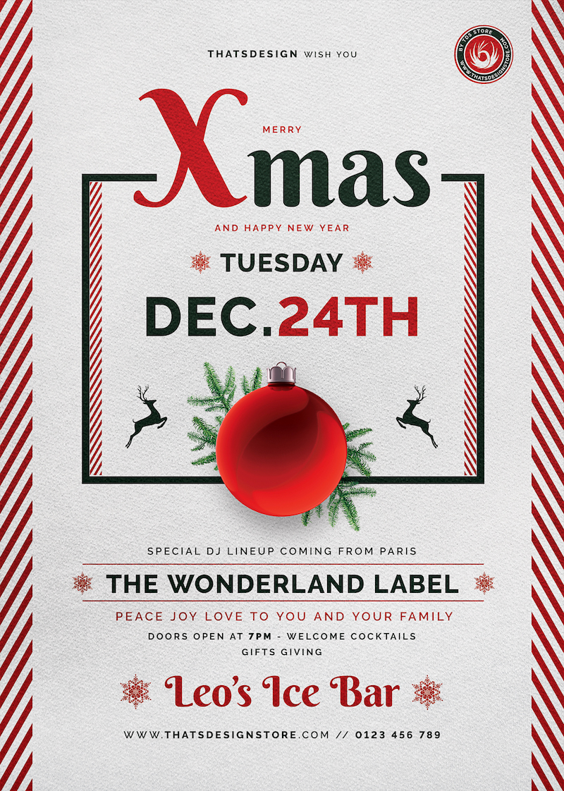 Christmas Eve Flyer Template V12   Psd posters design for ...