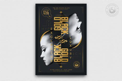 Minimal Black & Gold Flyer Template V17