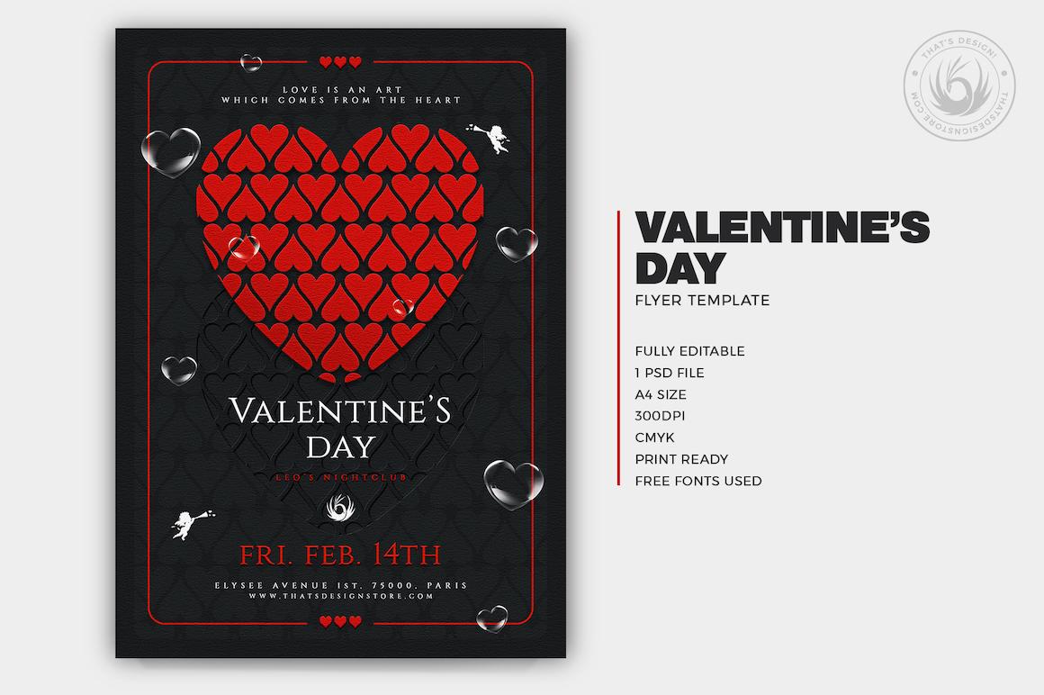 Valentine's day flyer Template psd 22