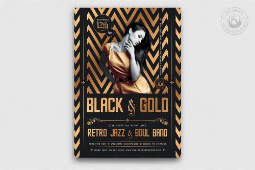 Minimal Black & Gold Flyer Template V18